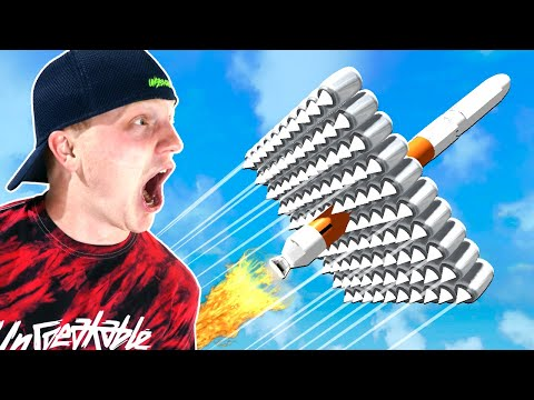 100 JET ENGINES On A ROCKET Roblox Challenge!