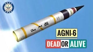 DRDO Agni-6 Missile Dead Or Alive? Agni-VI Missile Cancelled? Secret Agni 6 Missile Program? (Hindi)