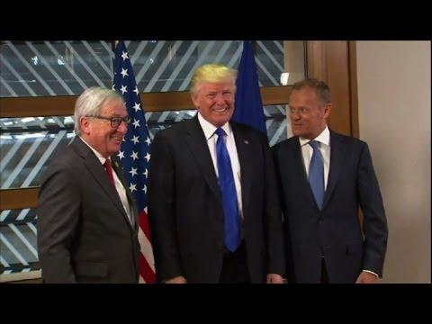 Trump meets EU chiefs in Brussels (2)