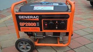 Бензиновый генератор Generac GP 2600 Обзор Отзыв реального владельца