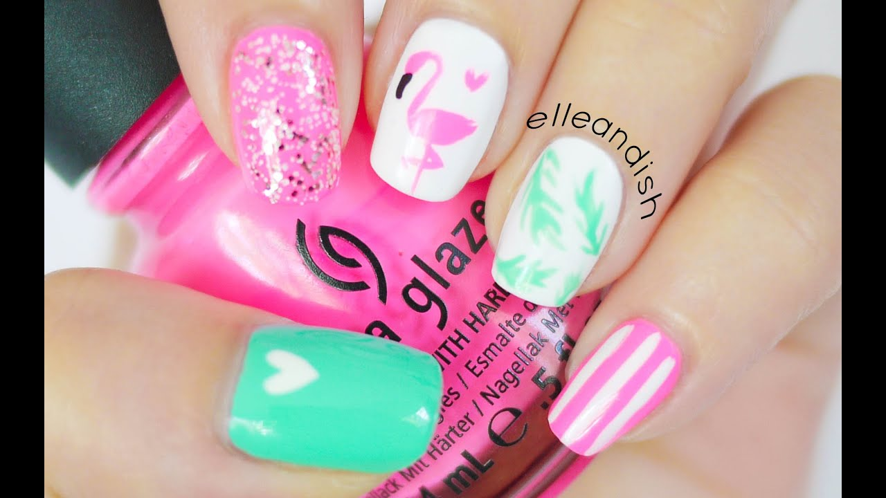 flamingo nails bonus diy nail