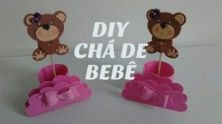 DIY Lembrancinha para Chá De Bebê Centro de Mesa Porta Docinhos Guardanapos