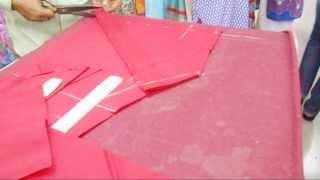 How To Cut Churidaar Salwar-Simple Cutting Method Of Churidar Salwar Kameez