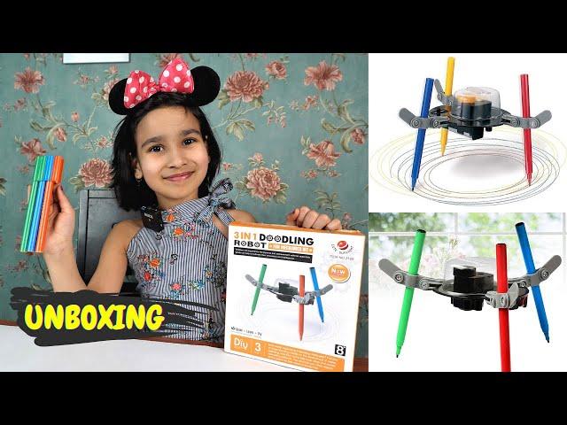 3 in 1 doodling robot kit Unboxing /  Fun Science-Kit / #LearnWithPari #Aadyansh