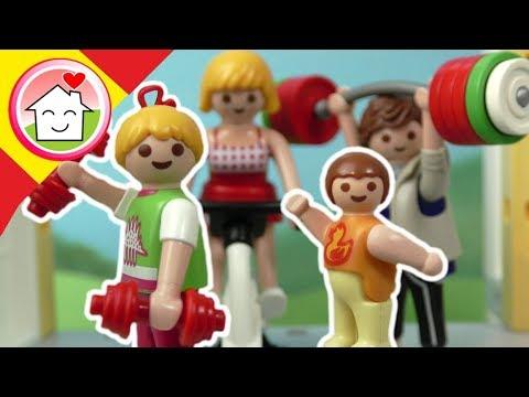Playmobil en español  La familia Hauser en el centro de fitness