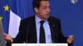 Sarkozy press conference at June EU Council in Brussels