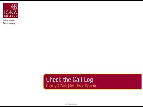 telephone log