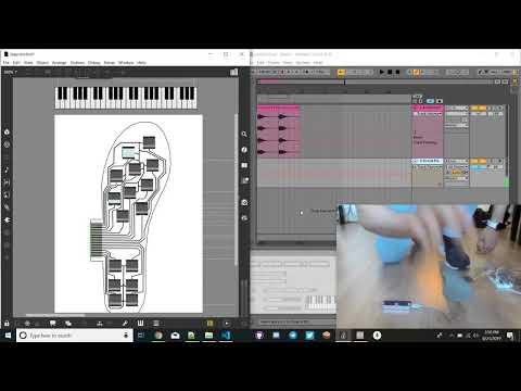 SmartShoe Insoles - Ableton Live Sustain Pedal w/Leap Motion Piano