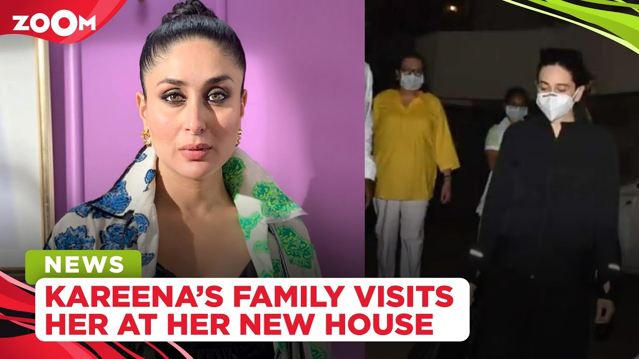 Kareena Kapoor's parents and sister Karisma Kapoor visit her ahead of her delivery at her new house