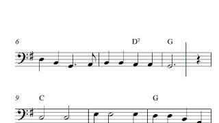 Oh! Susannah - Free easy cello sheet music