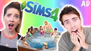 WooHoo In The Hot Tub | Zalfie Sims 4 #10