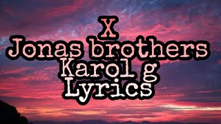 Download Lagu Jonas Brothers - X feat Karol g MP3