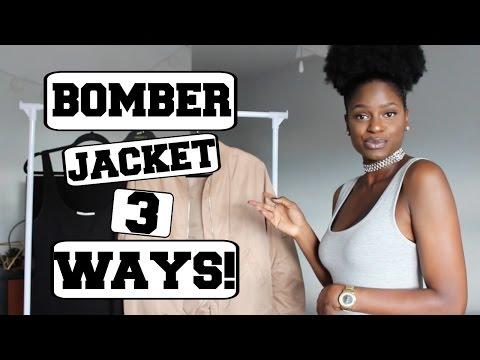 STYLING A BOMBER JACKET 3 WAYS!!