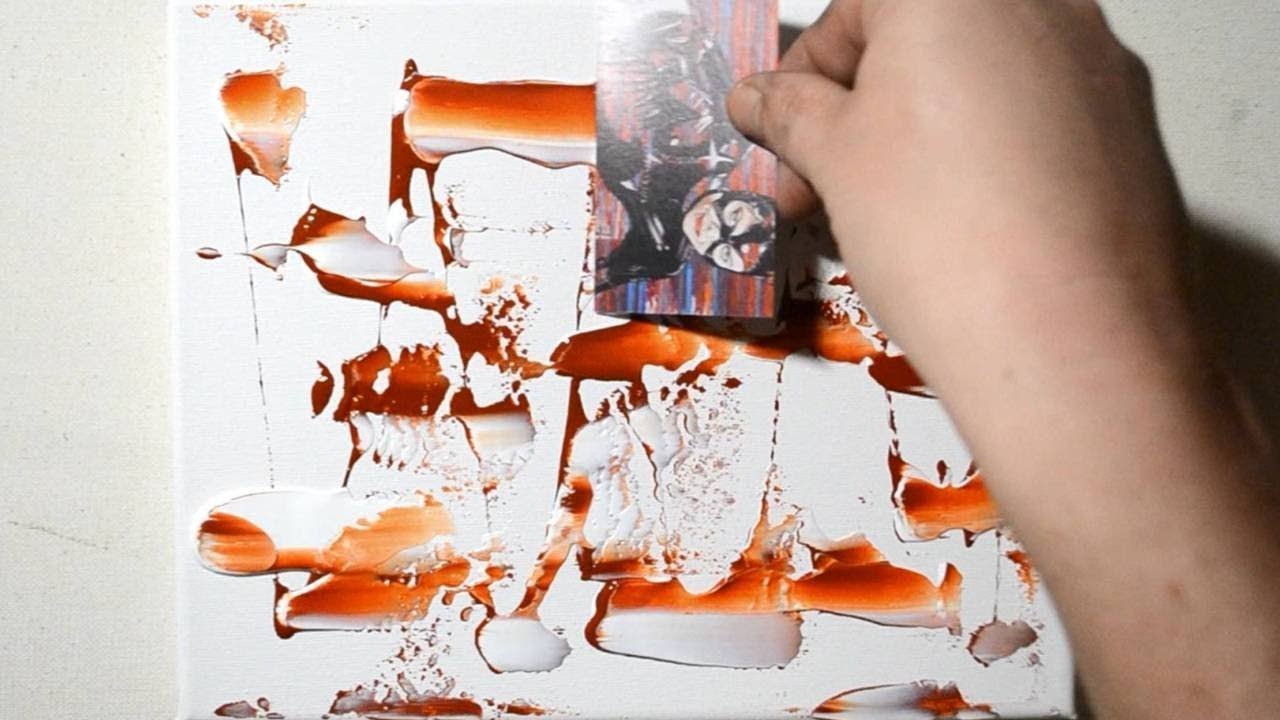 DIY canvas art: HOW TO CREATE A COOL ABSTRACT PAINTING ...