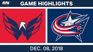 NHL Highlights | Capitals vs. Blue Jackets - Dec 8, 2018