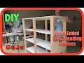 Open Free Standing Shelves | How To DIY