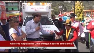 Presidente Javier Alvarado entregó moderna ambulancia al distrito de Huanza en Huarochirí