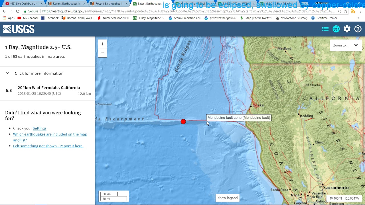 Breaking news m58 earthquake northern california 1252018 youtube m58 earthquake northern california 1252018 gumiabroncs Image collections