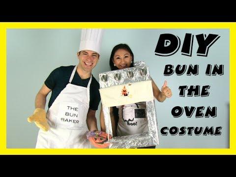 Halloween Diy Couples Pregnancy Costume Bun In The Oven Youtube