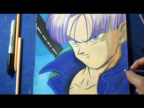 dessin coloration futures trunks dragon ball z youtube