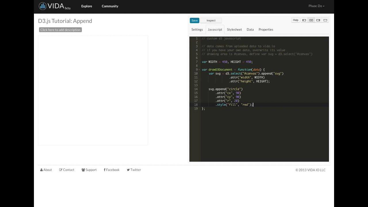Rapid D3 js Tutorial 1: Append