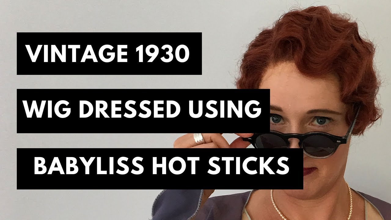 Vintage Hair Style: 1930s Wig Dressed For Stage (2 of 2)