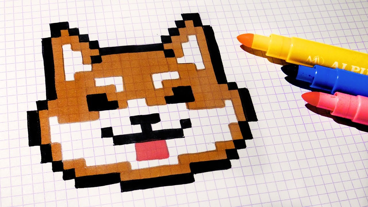 Handmade Pixel Art How To Draw Kawaii Dog Pixelart