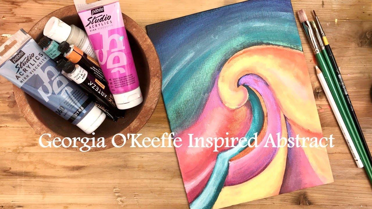 GEORGIA O'KEEFFE INSPIRED ABSTRACT