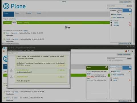 XMPP Single And Multi-user Chat In Plone.