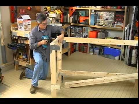 Building a work bench for your garage or craft room. - YouTube
