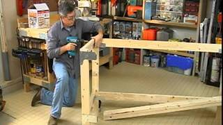 Building A  Work Bench For Your Garage Or Craft Room.