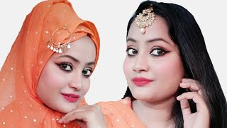 EID MAKEUP LOOK WITH HIJAB  & WITHOUT HIJAB || UNDER 300 RS