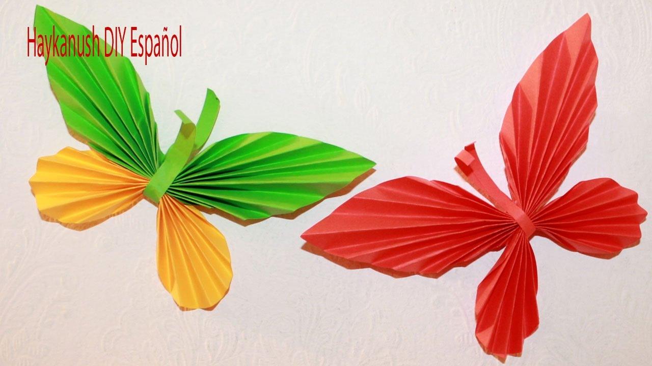 Como hacer mariposa de papel paso a paso youtube - Como hacer mariposas de papel ...