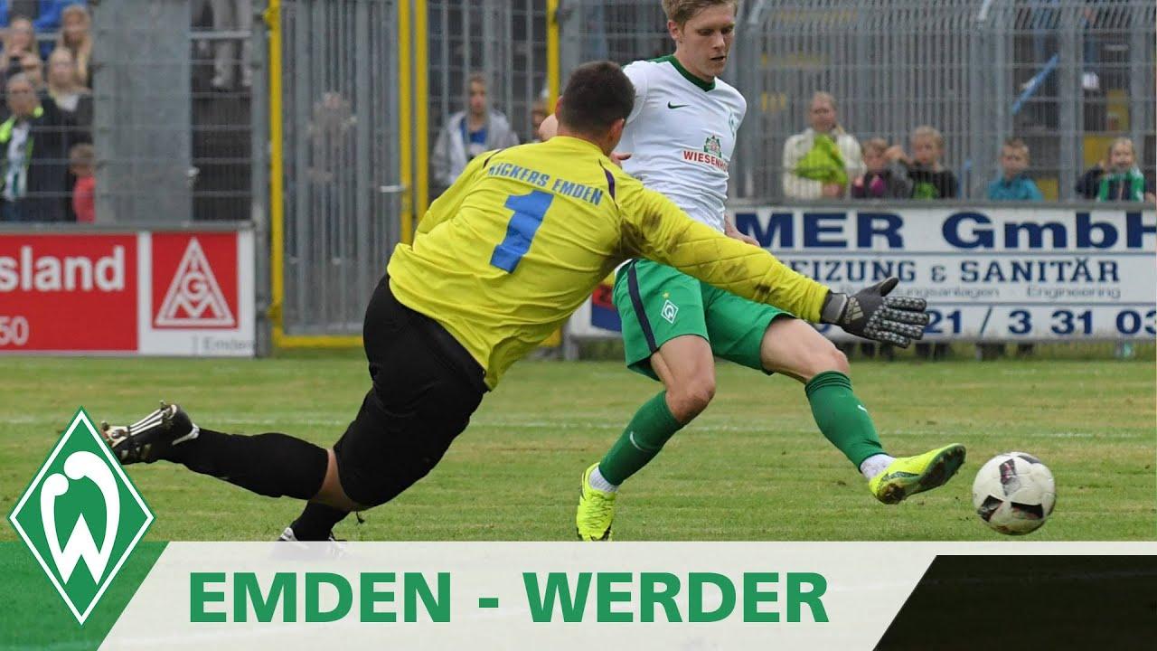 Aron Johannsson Funf Tore Gegen Kickers Emden Sv Werder Bremen