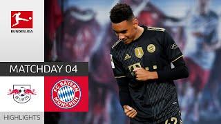 RB Leipzig FC Bayern München 1 4 Highlights Matchday 4 Bundesliga 2021 22