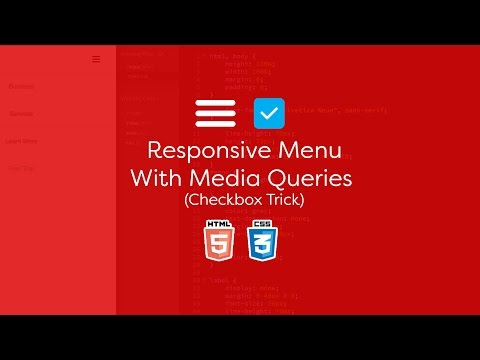 Responsive Menu With Media Queries (Checkbox Trick) - Using Only CSS3
