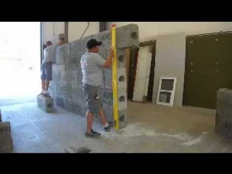 Building an apex block wall retaining walls insulated for Insulated block construction