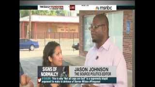 MSNBC Dr Jason Johnson on Local Forums in Ferguson, MO 8/22/14