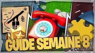 GUIDE COMPLET DES DÉFIS de la SEMAINE 8 SAISON 8 de FORTNITE Battle Royale