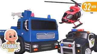 treasure hunt  with police car | New rescue kids cartoon videos | Jugnu kids baby songs