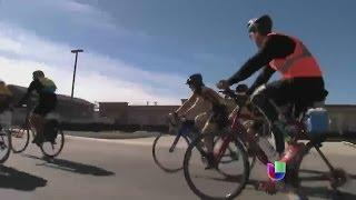 Carlos Gutiérrez empezó a pedalear por la justicia -- Noticiero Univisión