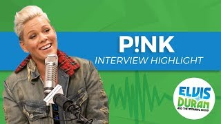 P!nk Chats Working with Eminem | Elvis Duran Show