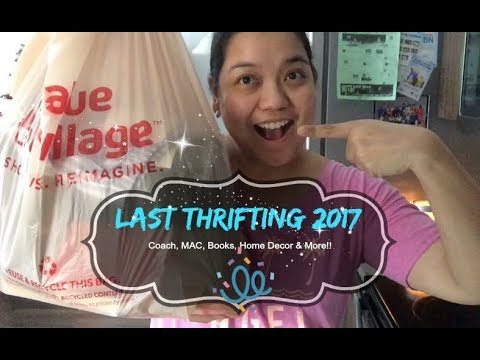LAST THRIFTING 2017 | Coach, MAC, Books, Home Decor & More | Vlog + Haul