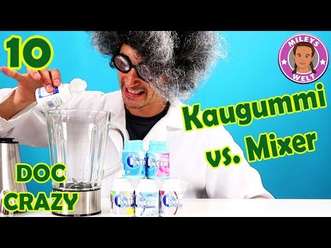 KAUGUMMI VS. Mixer - Bubblegum EXPERIMENT - der verrückte Professor | Mileys Welt