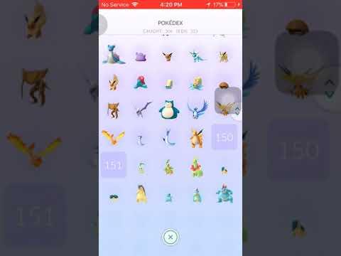 Pokemon Go Gen 1 & 2 Completed Pokedex Except Legendary Mew & Mewtwo, Smeargle