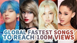 Download [TOP 30] FASTEST SONGS TO REACH 100 MILLION VIEWS ON YOUTUBE HISTORY Mp3 and Videos