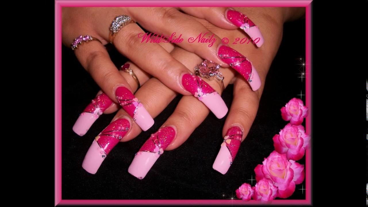 Cute long nails designs - YouTube