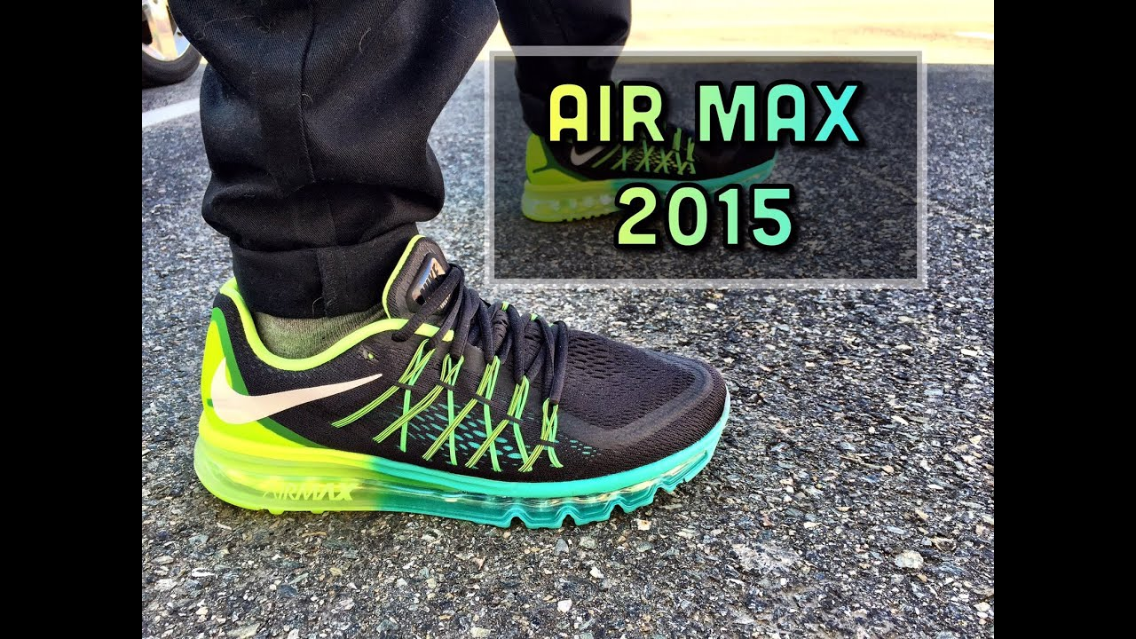 Nike Air Max 2015 Men's Running Shoes Black/White