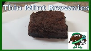 Dark Chocolate Thin Mint Brownies