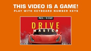 YouTube Game - Drive Master - Play with your computer keyboard